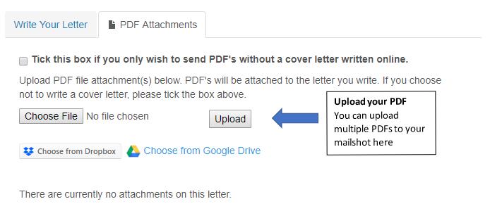 Attach PDFs